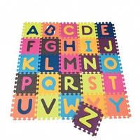 Детский развивающий коврик-пазл - ABC (140х140 см, 26 квадратов)