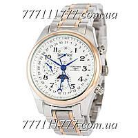 Часы мужские наручные Longines Master Collection Moonphases Steel Silver-Gold-White