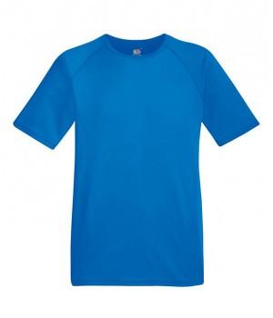 Чоловіча спортивна футболка поліестер синя 390-51