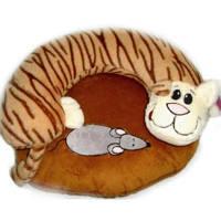 Подушка-игрушка в авто Кот с мышкой 2в1
