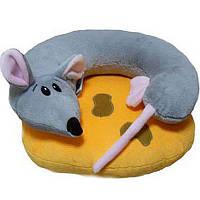 Подушка-игрушка в авто Мышка на сыре 2в1