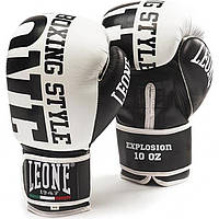Боксерские перчатки Leone Explosion White 12 ун.