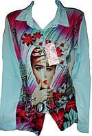 Рубашка женская девушка шифон