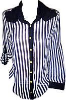 Рубашка женская в полоску шифон
