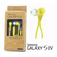 Наушники гарнитура Samsung S4 EO-HS3303 вакуумные 3.5mm.