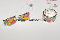 Комплект серебряный Лилия