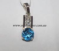 Серебряная подвеска с цирконием Розалина