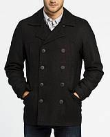 Двубортное пальто мужское черного цвета Jafar от !Solid (Дания) в размере M