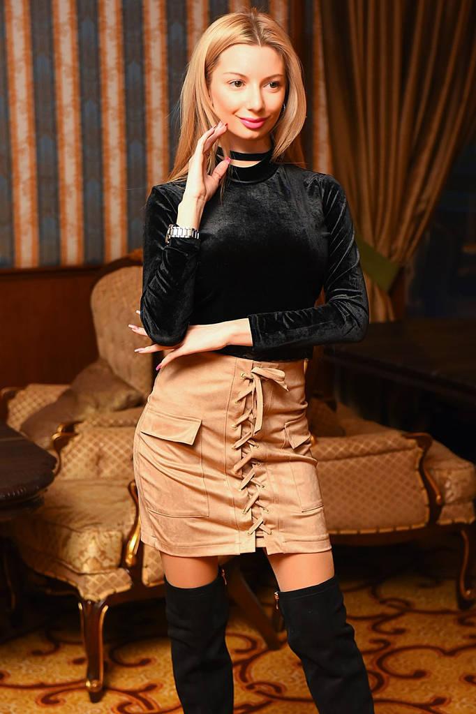 eb0bba9cd4c Женская стильная короткая юбка 9031