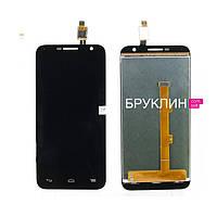 Дисплей для мобильного телефона Alcatel OT6016D/OT6016X, черный, с тачскрином / Экран для Алкатель