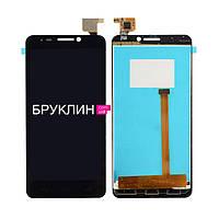 Дисплей для мобильного телефона Alcatel OT6030D/OT6030X, черный, с тачскрином / Экран для Алкатель
