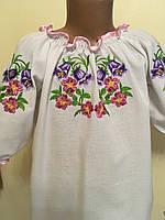 Сорочка вишита гладдю для дівчинки 7-8 років, фото 1