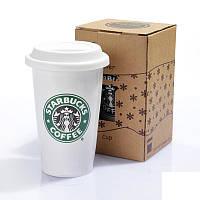Керамическая чашка CUP Стакан StarBucks HY101, стакан с крышкой starbucks, кружка стакан старбакс