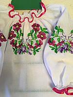 Біла блуза вишита гладдю 2-5 років