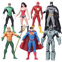 "Фигурки супергероев 7 в1  ""Лига Справедливости"" - Superheroes from Justice League, DC Comics"