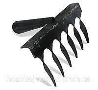 Грабли витые 6 зубьев 2мм толщина ручка на заклепках