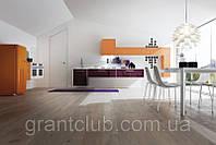 Современная шпонированная кухня фасад алюминиевом профиле SISTEMA ALLUMINIO фабрика AR-TRE (Италия)