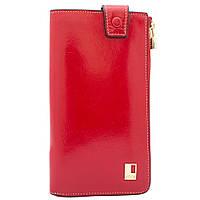 Кошелек женский кожаный  JCCS W-JS05684 красный