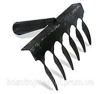 Грабли витые 6 зубьев 2мм толщина ручка сварная