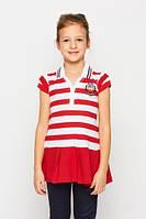 Детское трикотажное платье для девочки Glo-Story:GYQ-1769 красный,р.98,122