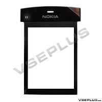 Стекло Nokia X3-00, черный