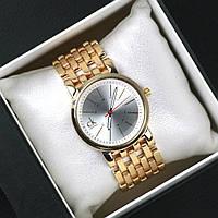 Часы женские наручные CK золото с белым, часы дропшиппинг
