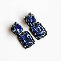Серьги женские Swarovski Elements синий