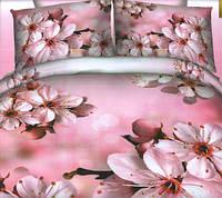 Комплект постельного белья евро Вишня, постельное белье
