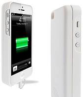 Аккумуляторный чехол с батареей на магните для iPhone 5/5S на 2800mAh [Белый]