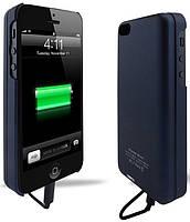 Аккумуляторный чехол с батареей на магните для iPhone 5/5S на 2800mAh [Синий (темный)]