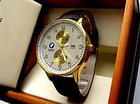 Часы наручные BMW золотые с белым , часы недорого