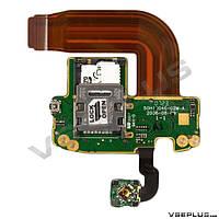 Шлейф HTC P3300 Artemis, с джойстиком, с разъемом на sim карту