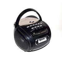 Бумбокс колонка караоке часы MP3 Golon RX 686Q Black , портативная акустика