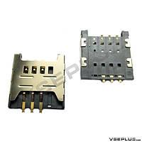 Разъем на SIM карту Samsung B5510 Galaxy Y Pro / C3520 / C3780 / E1180 / E1200 / E1280 / E2250