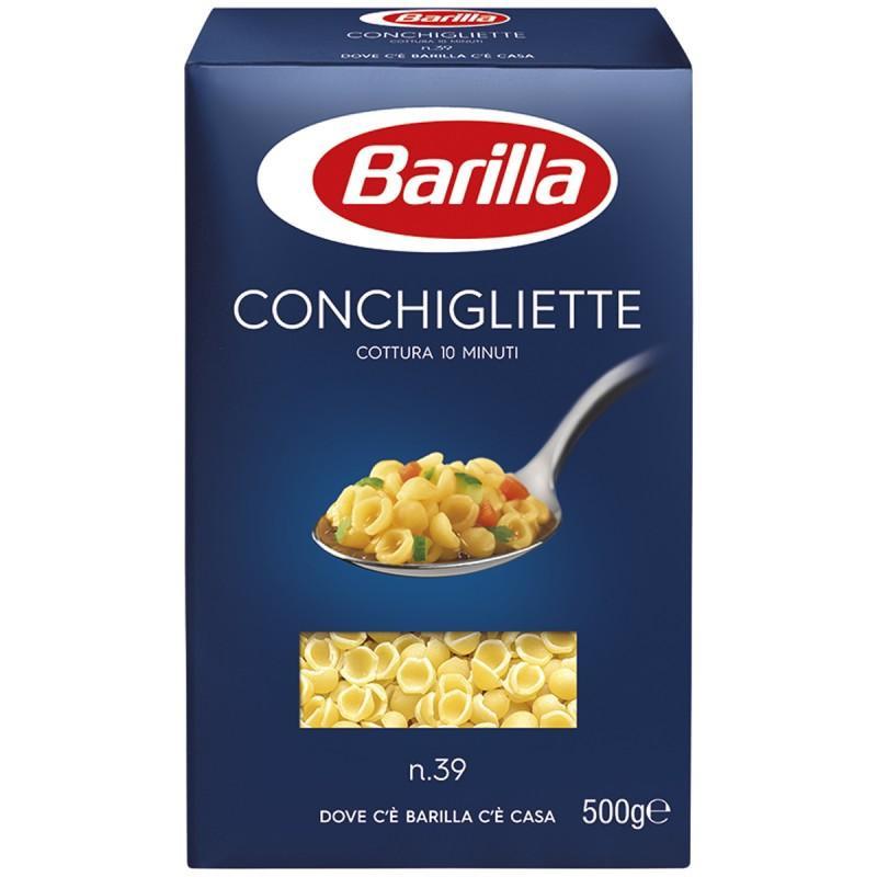 Макароны Barilla №39 Conchigliette ракушки, 0,5 кг (Италия) - Интернет-магазин Kobra в Харькове