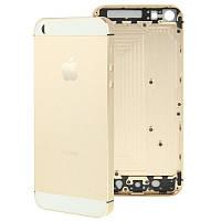 Задняя крышка корпус iPhone 5S золотая