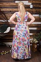 Стильное платье в пол для пышных форм
