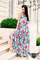 Платье в пол без рукавов  желтое и другие цвета