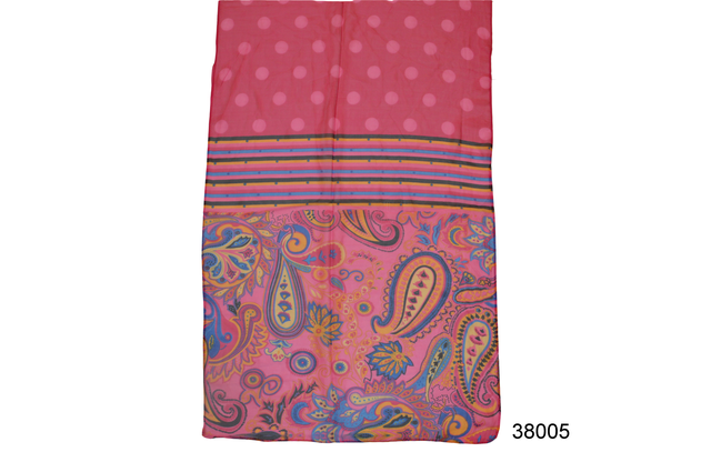 Женский глубокий розовый легкий шифоновый шарф 2