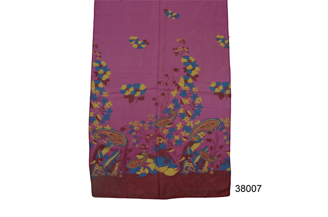 Женский малиновый легкий шифоновый шарф 2