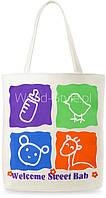 11-29 Белая с принтом женская сумка Koni