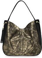 05-19 Черная женская сумка модель Freja