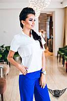 Женская рубашка с коротким рукавом белая, желтая