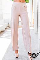 Классические брюки с высокой посадкой бежевые и бордо