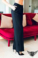 Классические брюки с высокой посадкой черные, синие