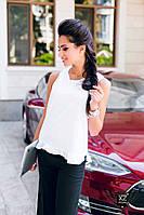Женская рубашка без рукавов белая