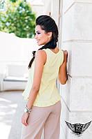 Женская рубашка без рукавов  желтая, ментоловая