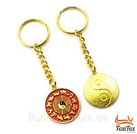 """Эксклюзивный золотой брелок для ключей """" восточный гороскоп """""""