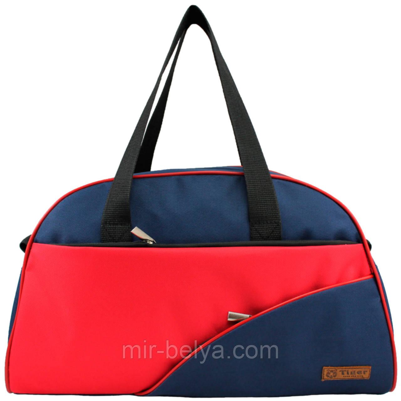 Сумки фитнес Tiger спортивная сумка  сине-красная