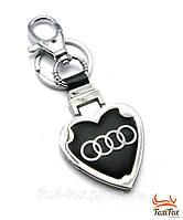 """Прекрасный брелок с черной кожаной вставкой """" Audi """""""